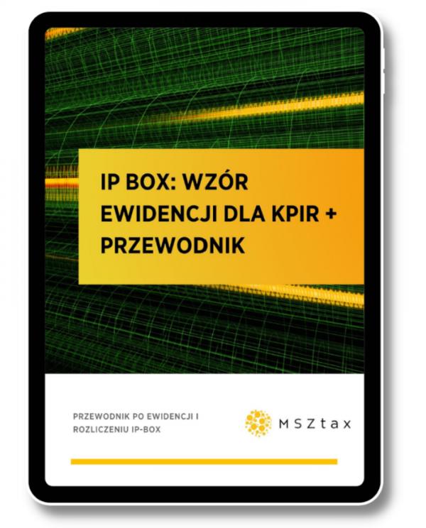 IP Box Wzór ewidencji dla KPIR + przewodnik