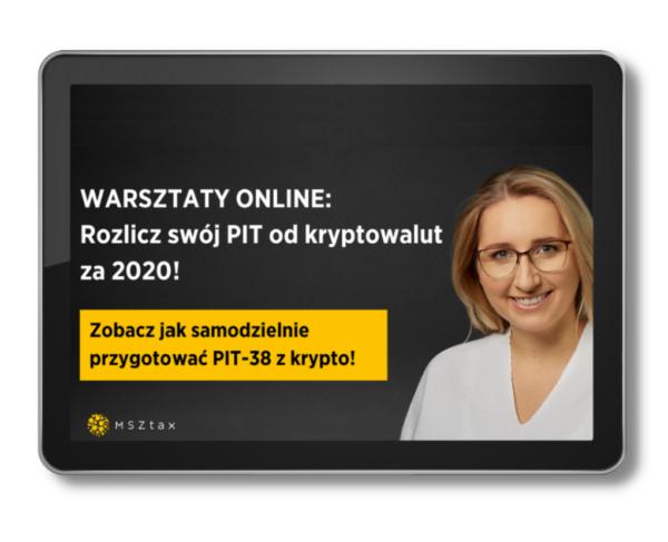 Warsztaty online rozlicz swój PIT z kryptowalut za 2020